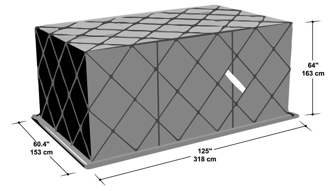 PLA shipping container